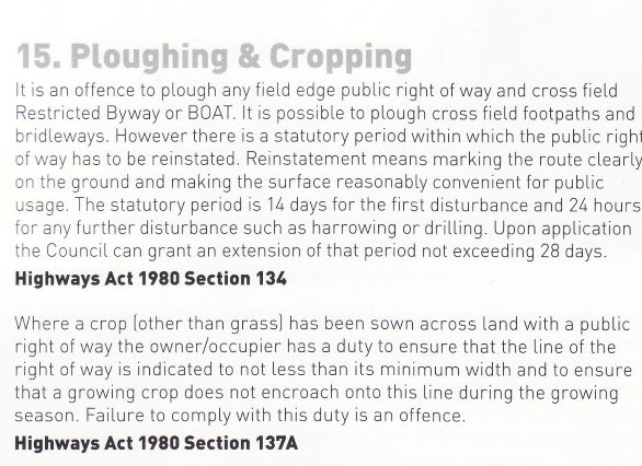 ploughing and cropping